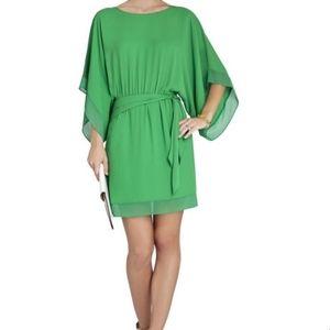BCBG Maxazria Lois Green Kimono Dress Size XXS